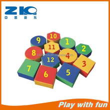 Children number studying Educational Products kids soft plastic building blocks