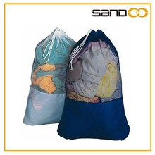 Hot selling large capacity cheap nylon mesh laundry bag, monogrammed laundry bags