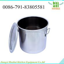 Cubo de aluminio barril bungs acero inoxidable gasolina cubo cubo metálico