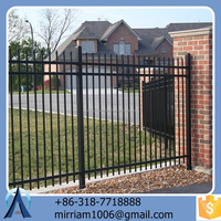 hot dip galvanized powder coated wrought iron fence accessories