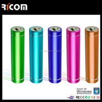 Lipstick Shape Power Bank 2600mAh external battery portable powerbank Charger for Cell Phone --PB106
