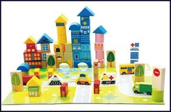 city traffic scene wooden toy wooden block traffic education toys for kids