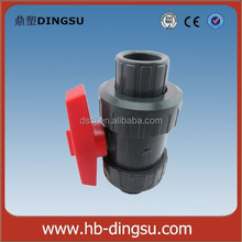 100% Virgin Material 40mm Red Handle PVC True Union Ball Valve