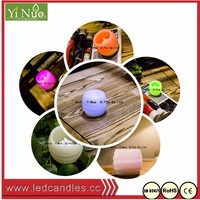 Multi-colored Flameless Small LED Wax Candles with Timer