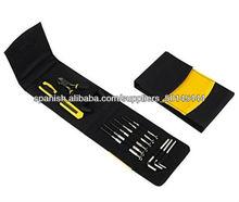 11pcs Mini del bolsillo bolsa de herramientas conjunto de herramientas manuales plegable