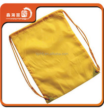 wholesale welcomed yellow color drawstring backpack bag