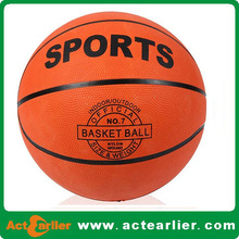 rubber material basketballs size 7