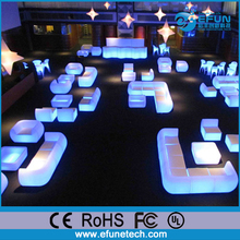 Outdoor/indoor plastic LED bar sofa chair, night club illuminated led sofa