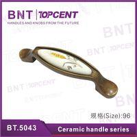 Matt or Chrome plate ceramic knobs and handles for drawer