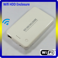 Wireless 2.5 HDD Enclosure with Wifi Router and Power Bank Function