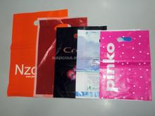Custom made punching hole plastic shopping bags