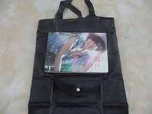 Wholesale Recyclable nylon foldable shopping bag /polyester material and handled style foldable tote bag