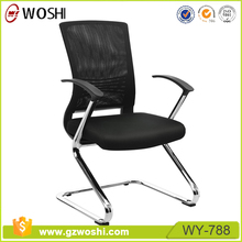 Mesh ergonomic reception boardroom conference table office chair For Meeting Room without castors wheels