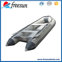 10 ft Inflatable Boat Raft Fishing Dinghy Tender Pontoon Boat Gray