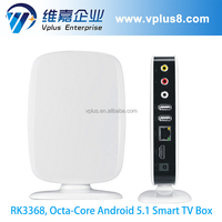 Vplus 30-8R chinese internet android fta octa core tv box 4k rk3368