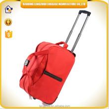 2015 China supplier waterproof travel bags top fashion women trolley duffle bags