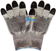 13G HPPE Lining with Nitrile dots Cut Resistant Gloves Bulk Price