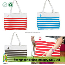 Top Quality Stripes Canvas Shopping Bag,Fashion Casual Canvas Tote Handbag,Cotton Shoulder Bag
