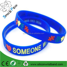 100% high quality Autism Awareness wristband, wholesale autism awareness bracelet