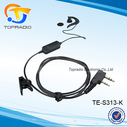 Topradio Intercom Ear Hook headphone with Mic For KYD/Kydera: NC-560 NC-550 NC-6200A NC-9900 NC-500 NC-600 NC-530 NC-525 NC-8800