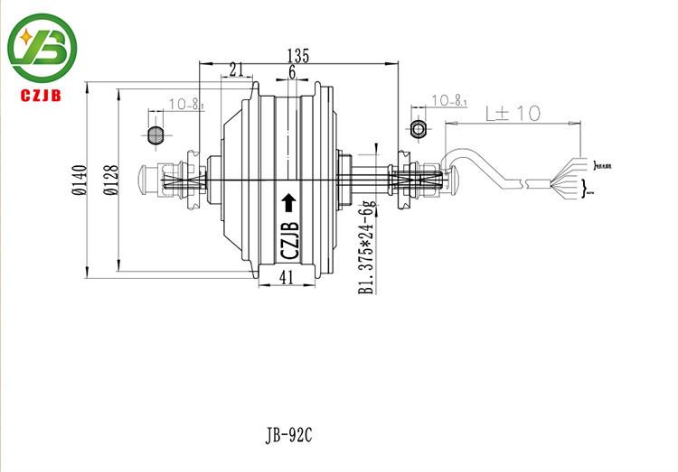 Jiabo jb-92c chinesische elektrische hub ebike motor für fahrrad