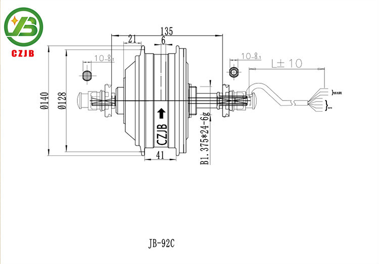 Jiabo jb-92c ebike dc-hub e-motor