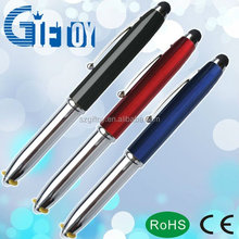 metal led light mini touch pen for promotional gifts