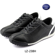 Lady leather leisure shoes with rubber outsole wholesale