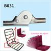 Metal Sofa bed parts adjustable ratchet sofa hinge