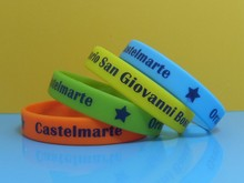 Beautiful colors imprinted silicone wristbands,Silkscreen printing silicone bands,0.5 inch imprinted silicone wristbands