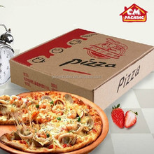 Corrugated Kraft Pizza Packing Box, motorcycle pizza box, logo pizza box