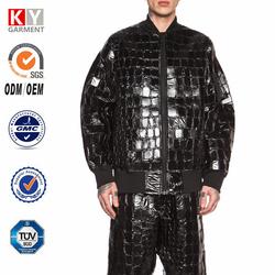 2015 patent pu fashion european style latest design jacket for men