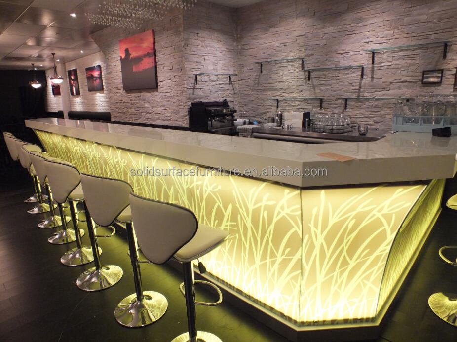 Comercial mesa de bar luxo led balc es de bares para clube do vinho conjuntos de m veis de bar - Huis bar ...