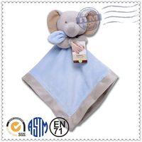 Wholesale newest colourful elephant plush baby blanket