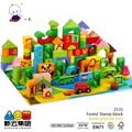 cor floresta blocos de construção com selo 2015 novos brinquedos de madeira
