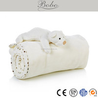 high quality new design baby cuddle bear blanke toy