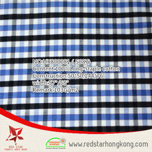 2015 new stype 100% long stapled cotton colourful small check