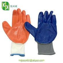 Promotional industrial nylon knitting hand nitrile gloves