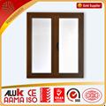Nuevo diseño australiano estándar de madera del grano de aluminio anodizado ventana abatible dibujo