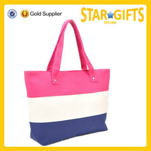 New arrival large capacity colorful stripe shopping tote bag