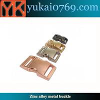 Yukai metal paracord buckle/metal bag buckle for backpack/metal buckle for bags