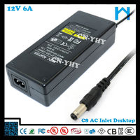 universal 12v 6a charger for battery 72w
