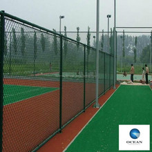 chain link fence for baseball fields/rubber coated chain link fence