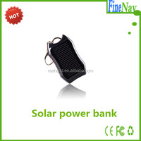 1200mAh keychain solar panel charger with torch Portable power bank solar li-ion battery charger