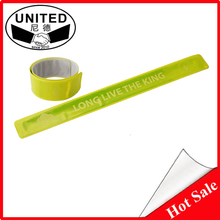 Hot Sale Logo Branded Cheap Reflective Slap Bracelet
