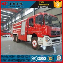 Dongfeng 6 * 4 moteur de feu rouge de lutte contre l'incendie camion