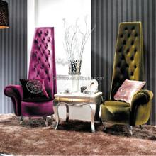 Bisini Modern Furniture, New Product Fabric High Back King Throne Chair