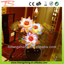 2014 novel decorative artificial flower plant Lotus/water lily with led light