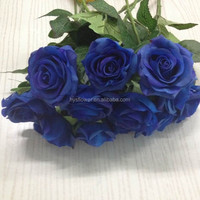real touch artificial flowers royal blue wedding decoration