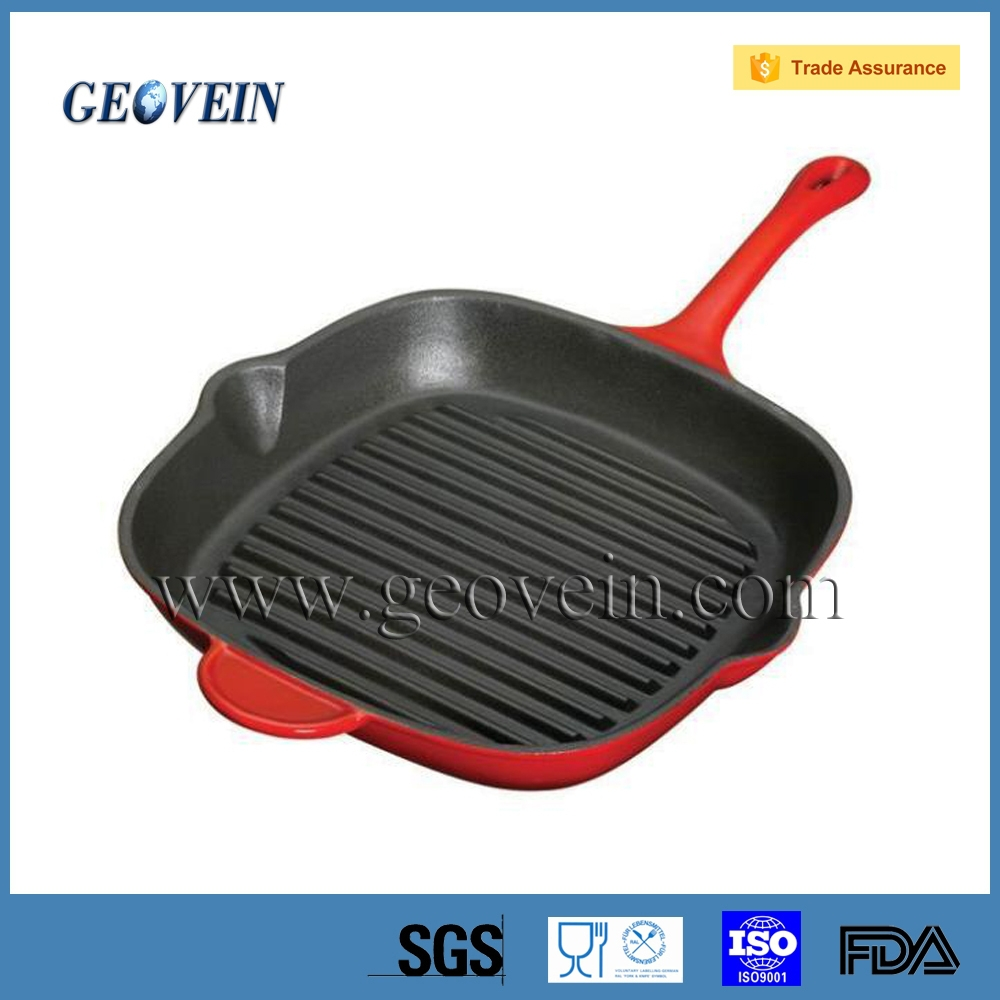 France cookware Style Square Grill Pan with Pour Spout